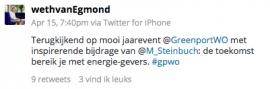 Twitterbericht Jose van Egmond