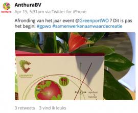 Twitterbericht Anthura
