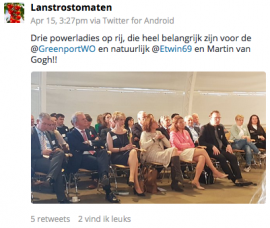 Twitterbericht Lans trostomaten