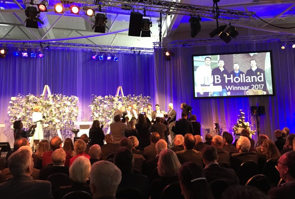 JUB Holland wint Tuinbouw Ondernemersprijs 2017