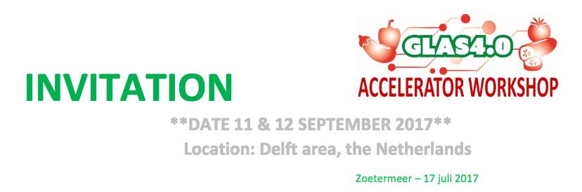 Accelerator Workshop Glas4.0 11 en 12 september