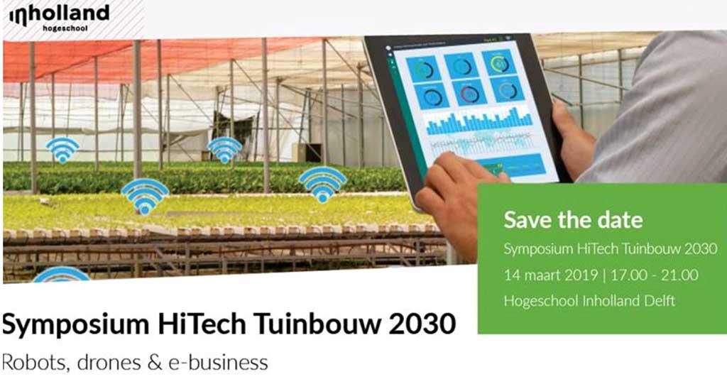 Symposium HiTech Tuinbouw 2030 op 14 maart