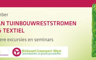 Mini-symposium en excursie over kansen tuinbouwreststromen in productie papier en textiel