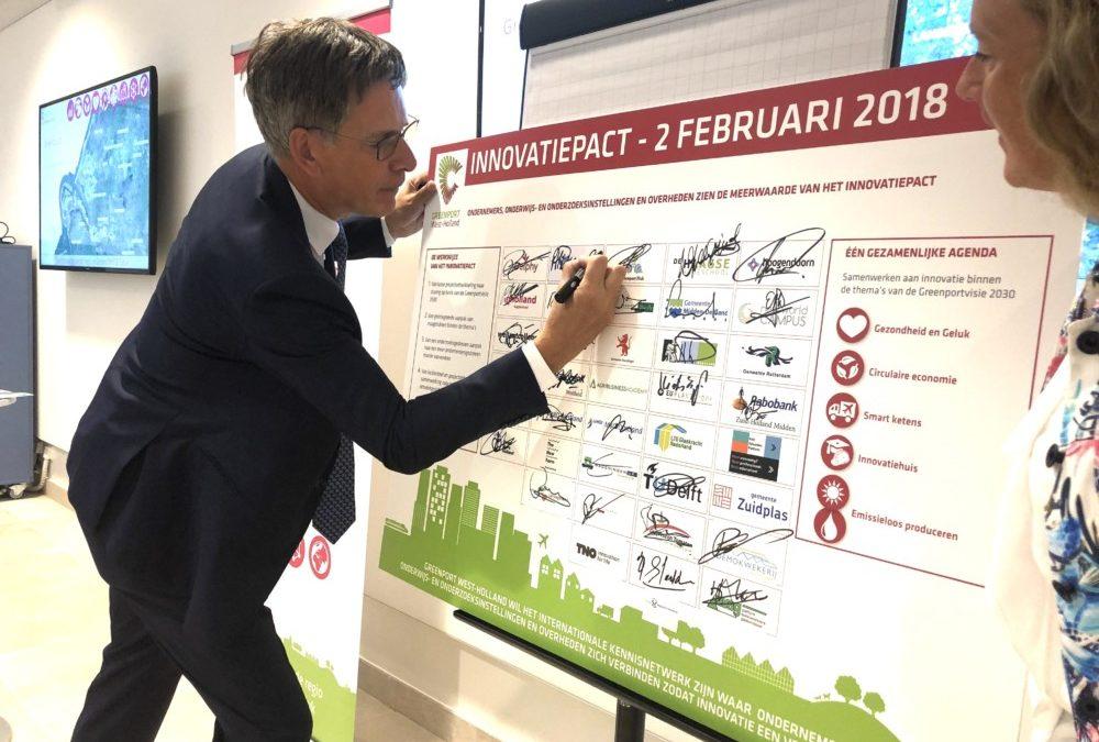 Hoogheemraadschap van Delfland ondertekent Innovatiepact van de Greenport