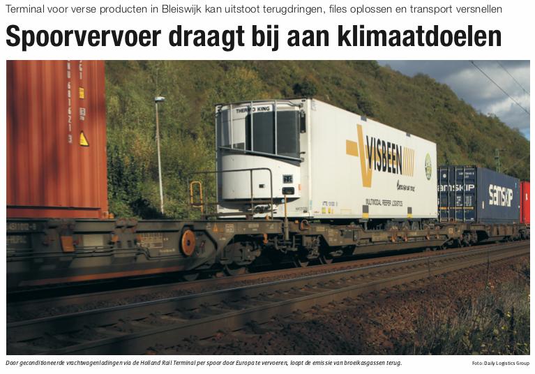Artikel in Nieuwe Oogst over Holland Rail Terminal
