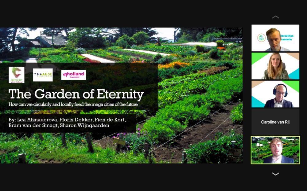 Team 'Garden of Eternity' wint hackathon Week van de Circulaire Economie