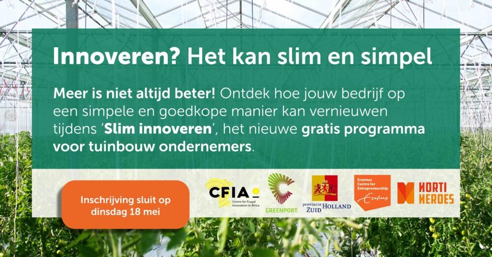 Gratis programma 'Slim Innoveren' voor tuinbouwondernemers